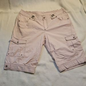 Athleta Kick It Baby Pink Cargo Hiking Shorts